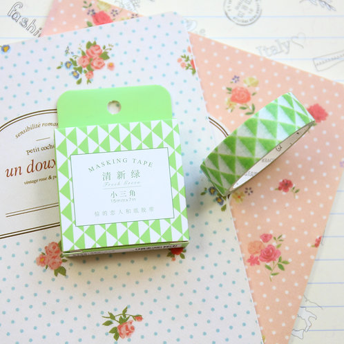 green triangles cardlover simple series washi tape