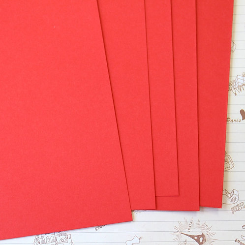 postbox red papermill series card stock
