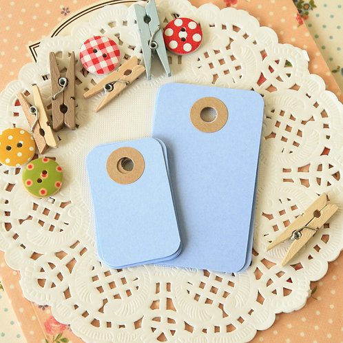 marine blue rounded rectangle tags