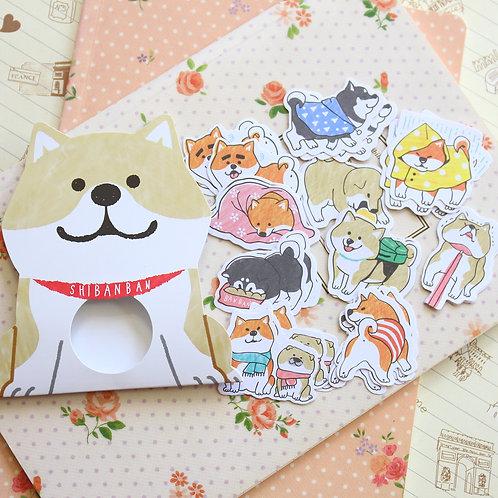 02 shibanban dog cartoon sticker flakes