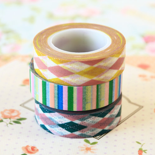 stripes & argyle washi tapes