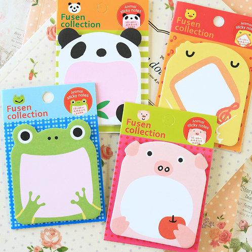 fusen mini animal shapes cartoon sticky notes