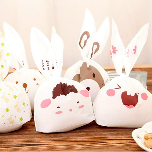 rabbit ears cartoon plastic bags