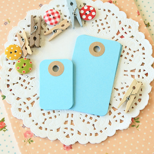 celestial blue rounded rectangle tags