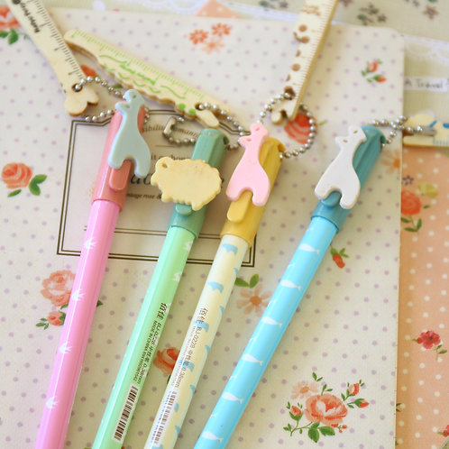 happy party animals cartoon pens