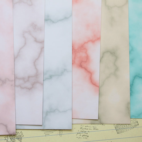 set 01 marble colour mix printed card stock