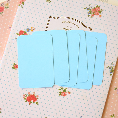 pale turquoise papermill colour blank business cards