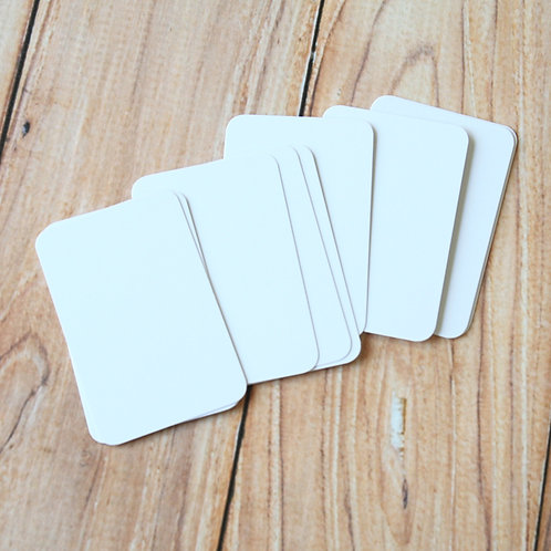 smooth white blank business cards