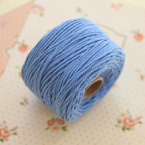 periwinkle blue twisted cotton bakers twine 80m