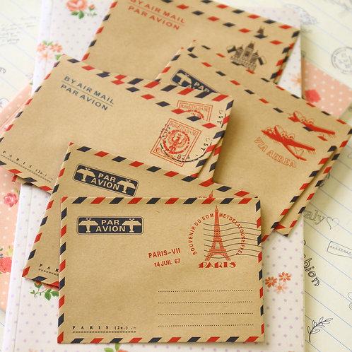 souvenir de paris mini kraft envelopes