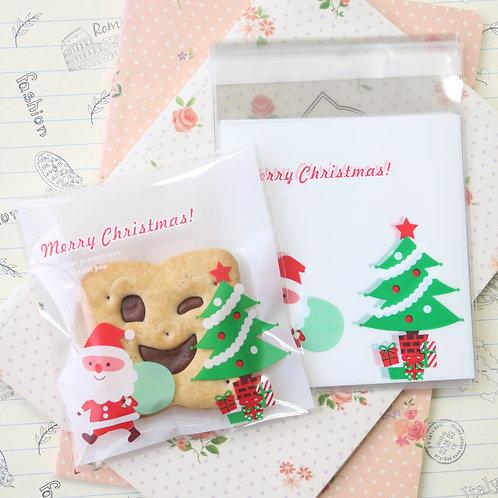 cute santa christmas cartoon plastic bags