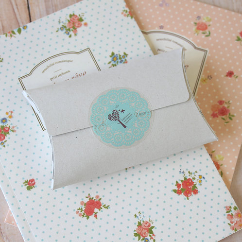 chipboard grey no glue small pillow boxes