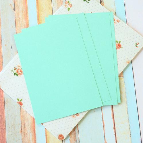 jade green craft style blank postcards