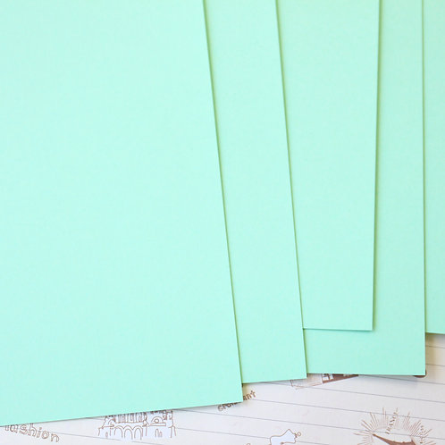 light spring green papermill series card stock