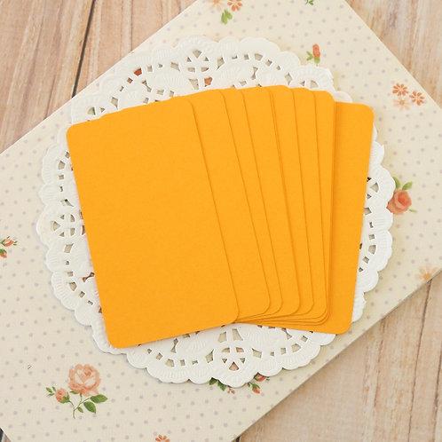 tangerine orange blank business cards