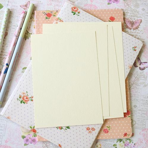 ivory canvas postcard blanks