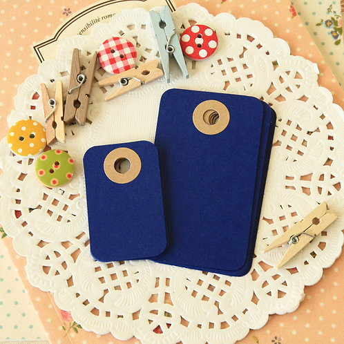 cobalt blue rounded rectangle tags