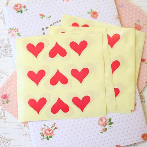 love heart sticker seals