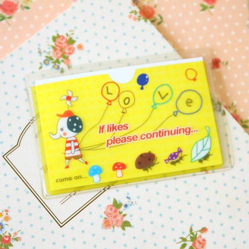 love elephant cartoon card pocket holder