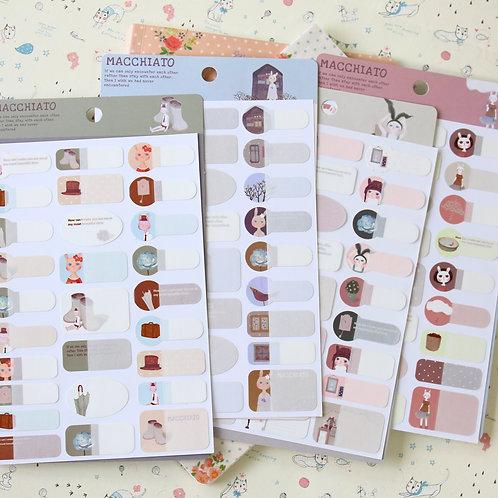 macchiato rabbit name sticker labels
