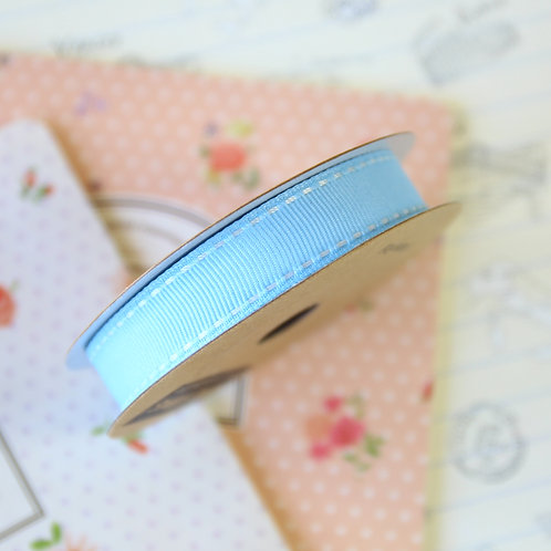 blue jane means stitched grosgrain ribbon