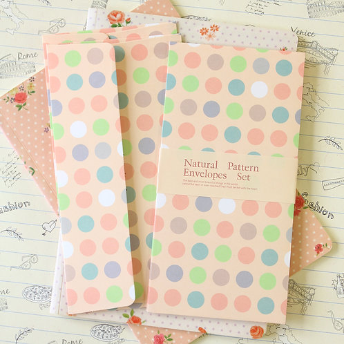 polka dots peach natural pattern envelopes