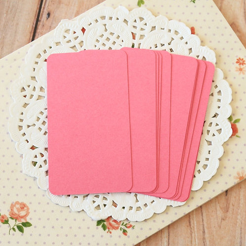 cerise pink white blank business cards