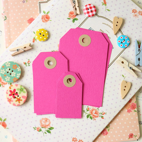 raspberry pink papermill series luggage gift tags