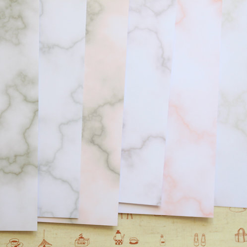 set 02 warm marble mix printed card stock