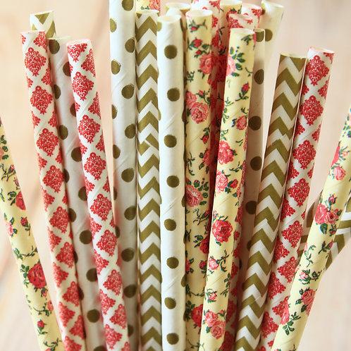sunrise bouquet mix paper straws