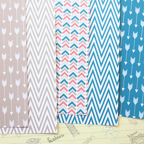 set 01 arrows hearts and chevron printed card stock