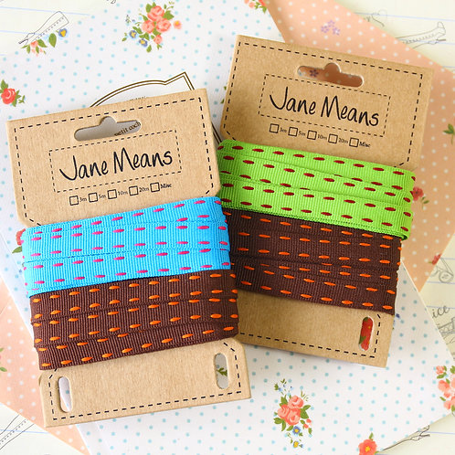 jane means vibrant colours duo ribbon set