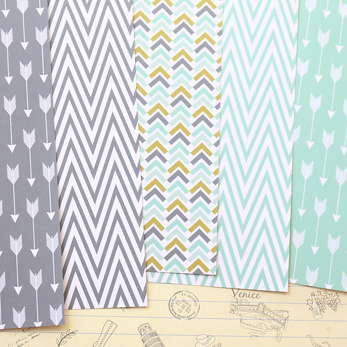 set 01 arrows and chevron printed card stock