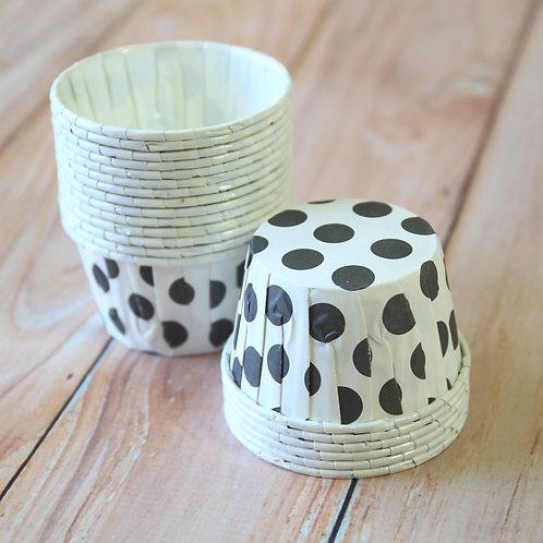 black big dots paper candy cups cupcake liner