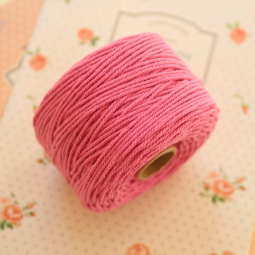 raspberry pink twisted cotton bakers twine 80m