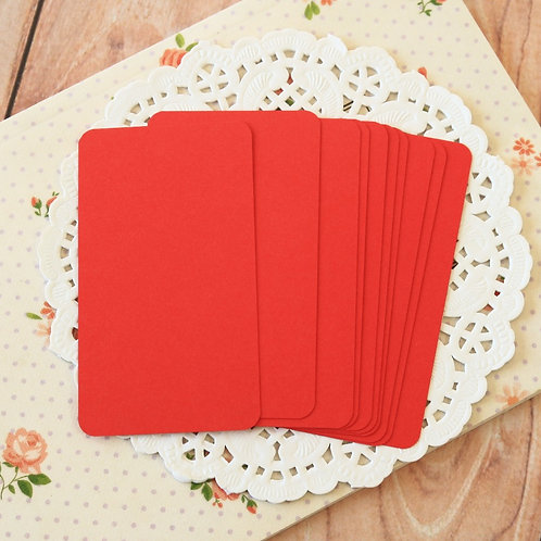 apple red blank business cards