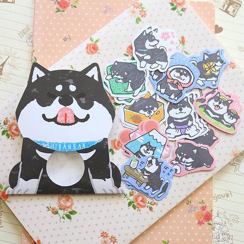 04 shibanban dog cartoon sticker flakes