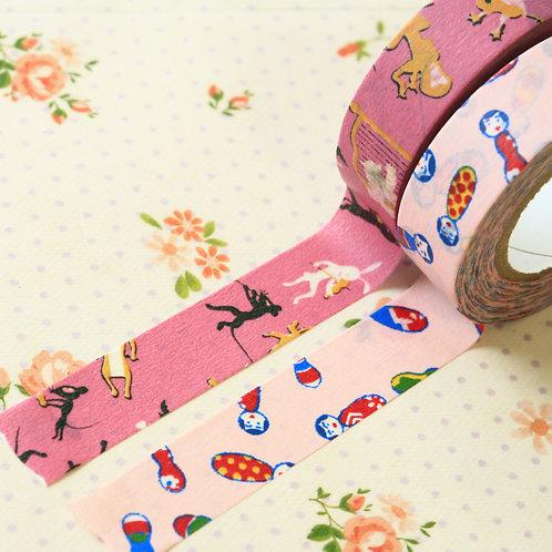 pink classiky yonagado cartoon washi tapes