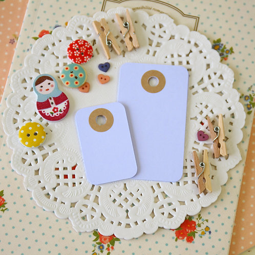 pale lilac rounded rectangle tags