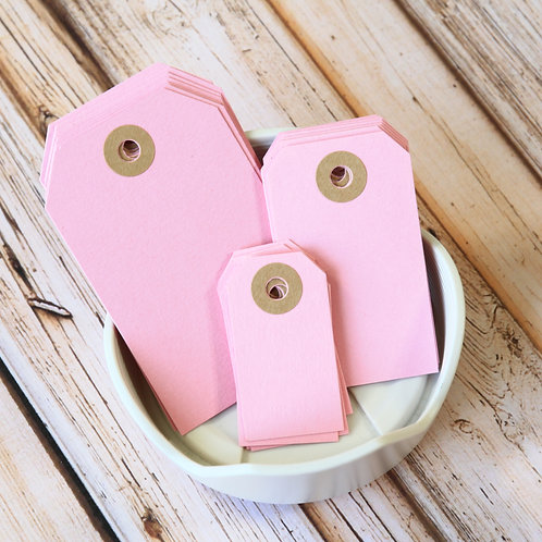 pastel pink colour luggage tags