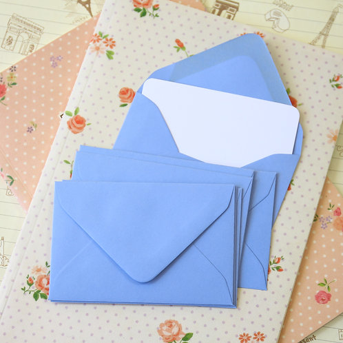 wedgewood blue colour mini envelopes & note cards