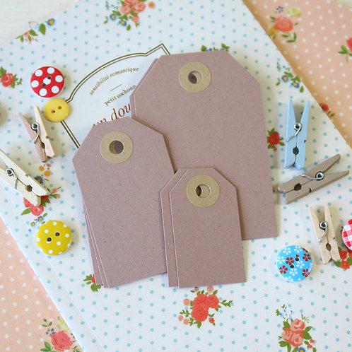 almond crush brown luggage tags