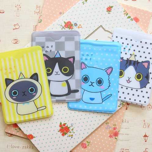 lovely cat cartoon card holder