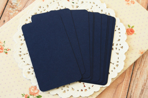 Blueberry navy blank business cards 50pc round corner business card blanks made from 100 british made acid free card stock has a smooth and uncoated surface ideal for rubberstamping or colourmoves