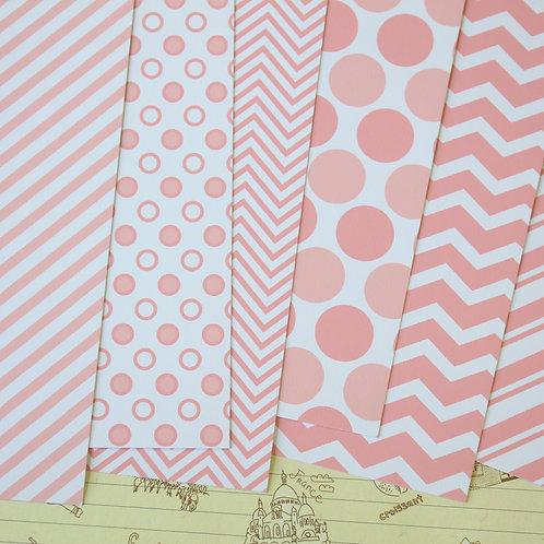 set 02 millennial pink printed card stock