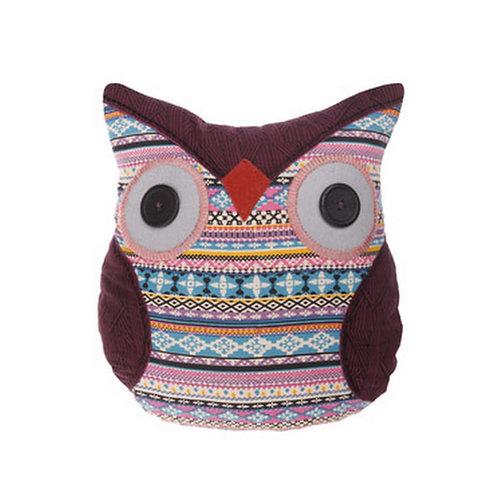 maya aztec floral owl pillow