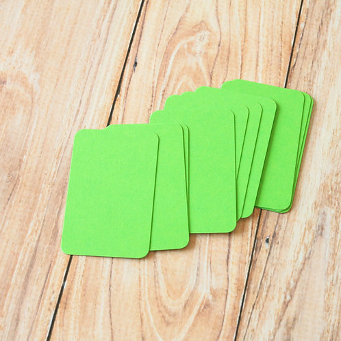 lime green blank business cards