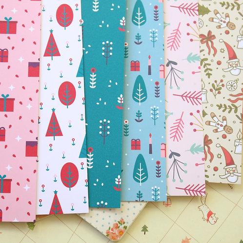 set 01 christmas mix cartoon printed card stock