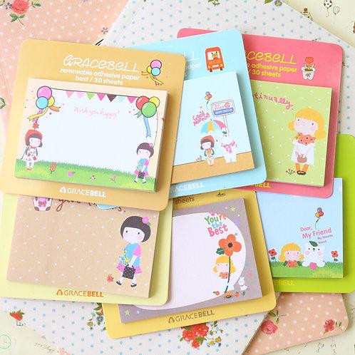 gracebell memo it cartoon sticky notes