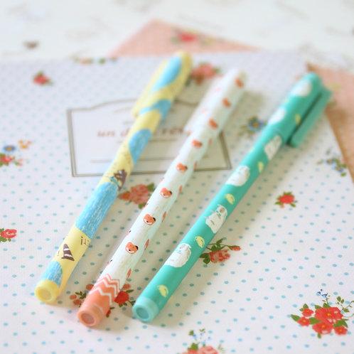 silly fox cartoon pastel pens